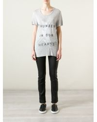 Zoe Karssen - Gray 'thunder In Our Hearts' T-shirts - Lyst