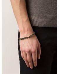 Joseph Brooks - Metallic Skull Bead Bracelet for Men - Lyst