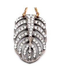 Lulu Frost - Metallic Silvertone Drift Earring - Lyst
