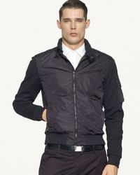 Ralph Lauren | Black Label Mixedmedia Bomber Jacket for Men | Lyst
