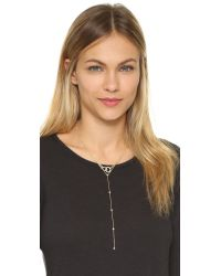 kate spade new york | Metallic Dainty Sparklers Y Necklace | Lyst