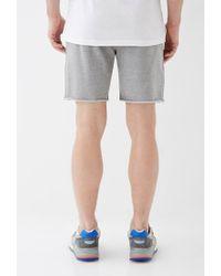 Forever 21 - Gray Varsity-striped Cutoff Sweatshorts for Men - Lyst