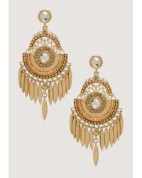 Bebe | Metallic Tribal Chandelier Earrings | Lyst
