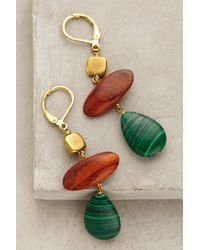 Anthropologie | Green Idalia Drop Earrings | Lyst