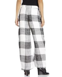 Acne Studios | Black Women's Check Elfa Trousers | Lyst