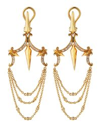 Stephen Webster - Metallic Diamond Dagger Chandelier Earrings - Lyst