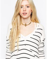 Vanessa Mooney | Metallic The Fates Gold Choker Necklace | Lyst