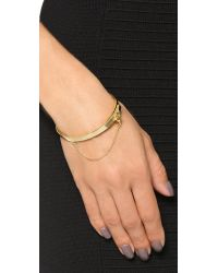 Eddie Borgo | Metallic Extra Thin Safety Chain Bracelet | Lyst