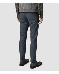 AllSaints | Blue Stove Chinos for Men | Lyst