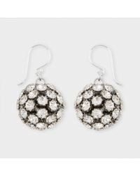 Paul Smith | Metallic Sterling Silver Diamante Ball Earrings | Lyst