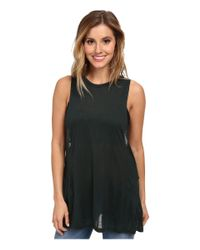 Obey - Green Anabella Tank Top - Lyst