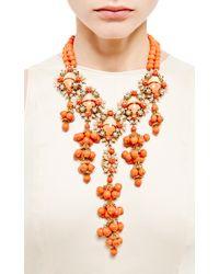 House of Lavande | Orange Stanley Hagler Floral Necklace | Lyst