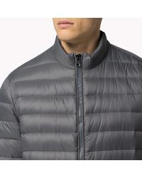 Tommy Hilfiger   Gray Down Bomber for Men   Lyst