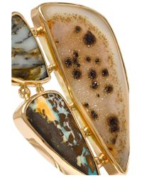 Melissa Joy Manning - Yellow 14-karat Gold And Sterling Silver Multi-stone Cuff - Lyst
