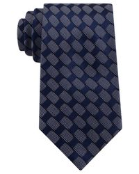 Sean John | Blue Rectangle Neat Tie for Men | Lyst