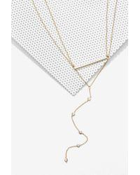 Nasty Gal | Metallic Nici Lariat Necklace | Lyst