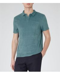 Reiss - Green Montego Terry Towelling Polo Shirt for Men - Lyst