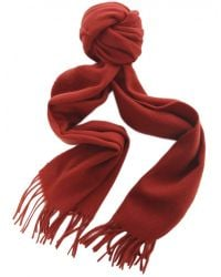 Jules B - Red Colour Block Wool Scarf for Men - Lyst