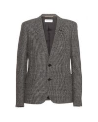 Saint Laurent - Gray Wool Blazer - Lyst