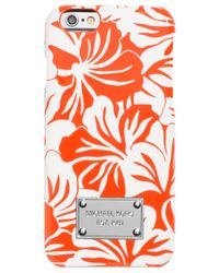 Michael Kors | Orange Michael Paradise Orchid Iphone 6 Case | Lyst