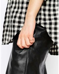 ASOS | Metallic Limited Edition Double Bar Pinky Ring | Lyst