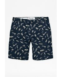 French Connection - Blue Jets Sons Peach Pie Kent Shorts for Men - Lyst