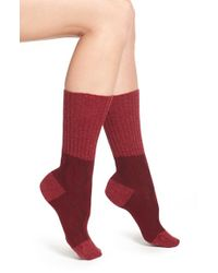 Pantherella - Purple 'chloe' Cable Knit Socks - Burgundy - Lyst