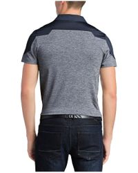 BOSS Green | Blue 'pavotech' | Slim Fit, Tech Jersey Colorblock Polo for Men | Lyst