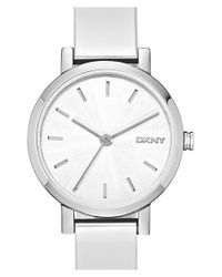 DKNY | Metallic 'soho' Round Logo Bangle Watch | Lyst