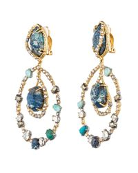 Alexis Bittar | Blue Gold Muse D'Or Orbiting Clip Earring | Lyst
