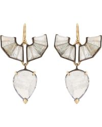 Nak Armstrong | Metallic Mixed-gemstone Drop Earrings | Lyst