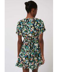 TOPSHOP   Multicolor Petite Retro Floral Tea Dress   Lyst