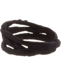 Julius - Black Oxidised Silver Entwined Ring for Men - Lyst