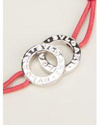 BVLGARI | Red Slim Logo Bracelet | Lyst