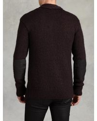 John Varvatos | Purple Hand Knit Cardigan for Men | Lyst