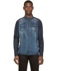 DIESEL | Blue Denim New_sonora Shirt for Men | Lyst