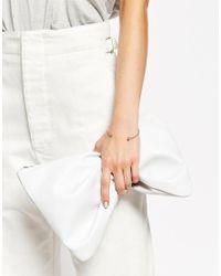 ASOS | Pink Pretty Stone Open Cuff Bracelet | Lyst