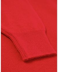 Jules B - Red Crew Neck Lambswool Sweater for Men - Lyst