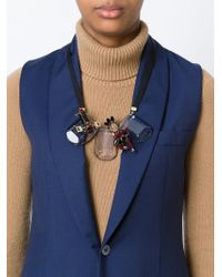 Marni | Black Contrastin Panel Necklace | Lyst