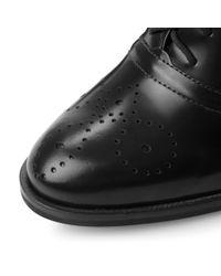 Dune | Black Fritz Block Heel Lace Up Shoes | Lyst