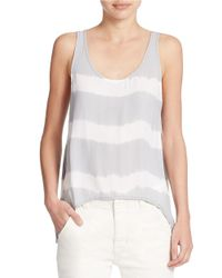 Free People | Gray Scoop Neck Tank Top | Lyst