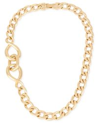 Kenneth Cole | Metallic Gold-tone Twisted Link Necklace | Lyst