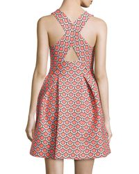 Trina Turk - Pink Sleeveless Petal Jacquard Shift Dress - Lyst