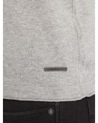 Calvin Klein | Gray Cadoc Crew Neck Long Sleeve Sweater for Men | Lyst