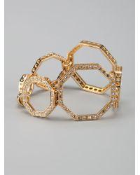 Ca&Lou - White Octagonal Link Bracelet - Lyst