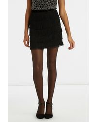 Oasis | Black Fringed Skirt | Lyst