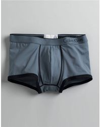 Calvin Klein | Blue Microfiber Low Rise Trunks for Men | Lyst