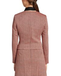 HUGO - Pink 'andrisa' | Cotton Blend Abstract Weave Jacket - Lyst