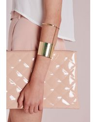 Missguided - Metallic Block Arm Cuff Gold - Lyst