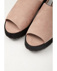 Forever 21 | Pink Faux Suede Slingback Sandals | Lyst